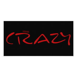 Certified Crazy Official Stamp Capital Letters Card