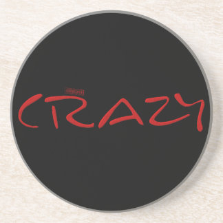 Certified Crazy Official Stamp Capital Letters Beverage Coasters