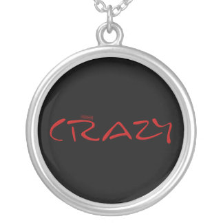 Certified Crazy Official Stamp Capital Letters Round Pendant Necklace