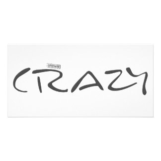 Certified Crazy Official Stamp Capital Letters Photo Cards