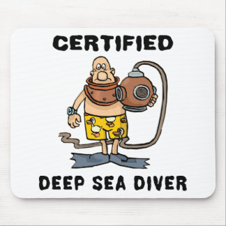 Certified Deep Sea Diver Gift Mouse Pad
