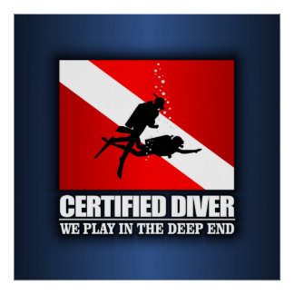 Certified Diver (Deep End) Poster