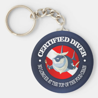 Certified Diver (Food Chain) Keychain