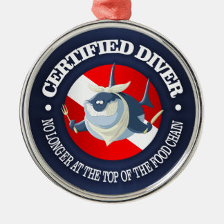 Certified Diver (Food Chain) Metal Ornament