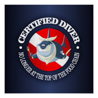 Certified Diver (Food Chain) Poster