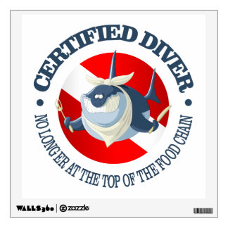 Certified Diver (Food Chain) Wall Decal