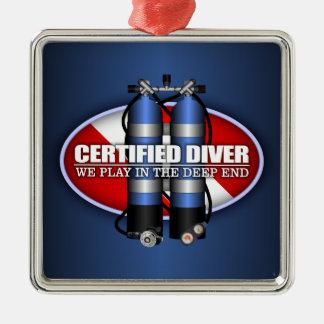 Certified Diver (ST) Metal Ornament