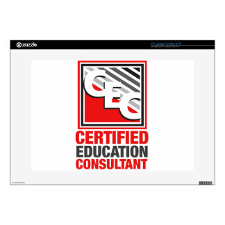 "Certified Education Consultant 15"" Laptop Decal"