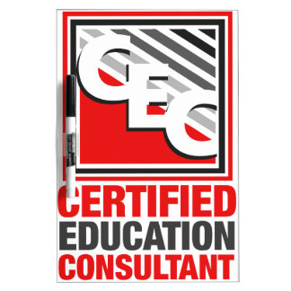 Certified Education Consultant Dry-Erase Board
