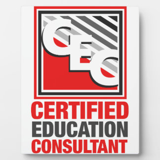 Certified Education Consultant Plaque