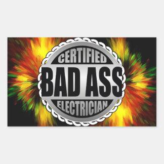 Certified Electrician Rectangular Sticker