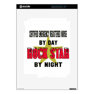 Certified Emergency Registered Nurse by Day rockst Decal For iPad 2