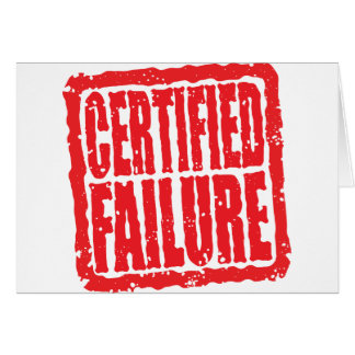 Certified Failure stamp Card