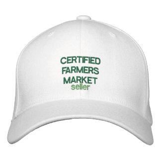 CERTIFIED FARMERS MARKET seller Customizable Cap Embroidered Baseball Cap