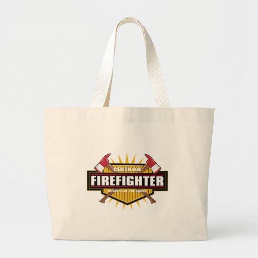 Certified Firefighter Jumbo Tote Bag