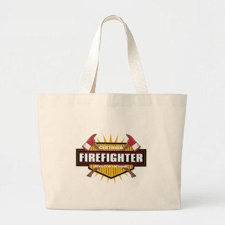 Certified Firefighter Large Tote Bag