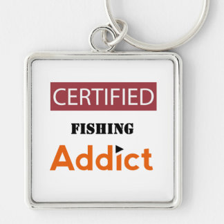 Certified Fishing Addict Keychain