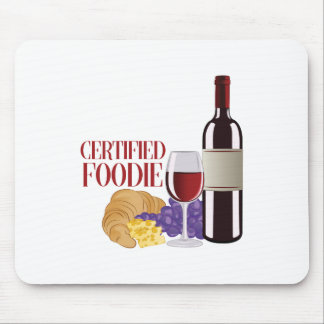 Certified Foodie Mouse Pad