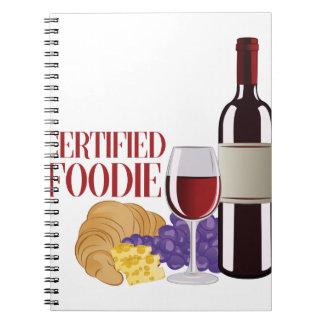 Certified Foodie Spiral Notebook