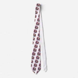 Certified Football Nut Red and Blue Emblem Design Neck Tie