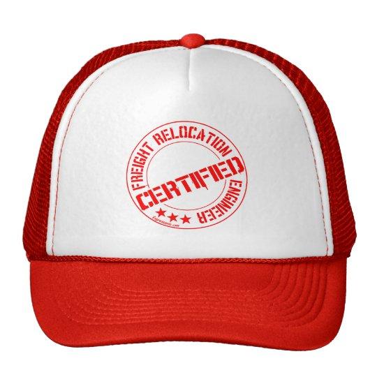 Certified Freight Relocation Engineer Red Mesh Cap Trucker Hat