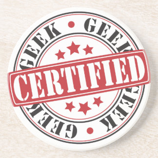 Certified Geek Drink Coaster