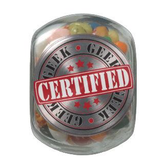 Certified Geek Glass Jar