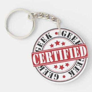 Certified Geek Keychain