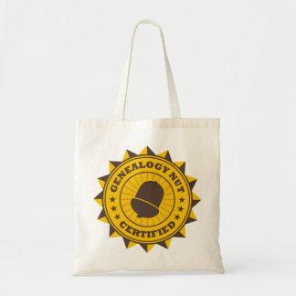 Certified Genealogy Nut Canvas Bags