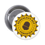 Certified Genealogy Nut Buttons