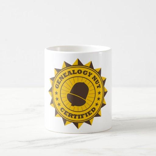 Certified Genealogy Nut Classic White Coffee Mug
