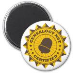 Certified Genealogy Nut Refrigerator Magnets