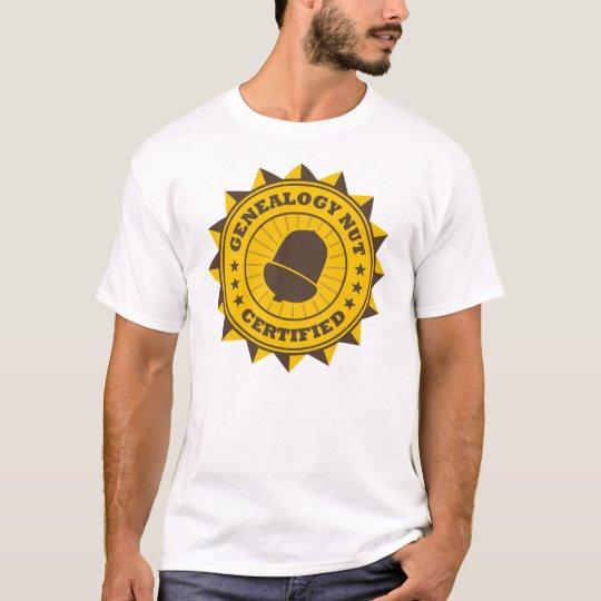 Certified Genealogy Nut T-Shirt