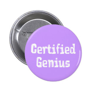 Certified Genius Gifts 2 Inch Round Button