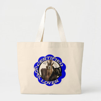 CERTIFIED GOAT LOVER! CANVAS BAGS
