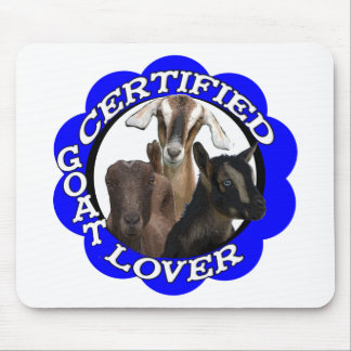 CERTIFIED GOAT LOVER! MOUSEPADS