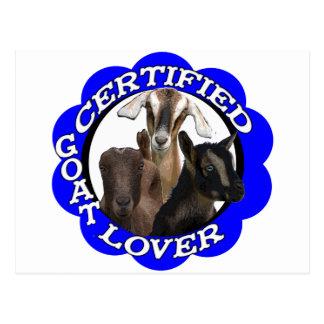 CERTIFIED GOAT LOVER! POSTCARD