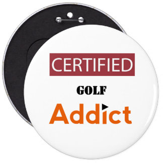 Certified Golf Addict Button