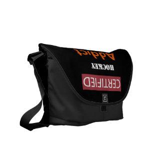 Certified Hockey Addict Messenger Bag