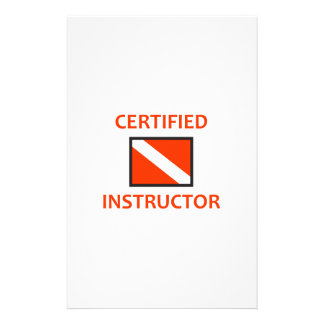 CERTIFIED INSTRUCTOR STATIONERY