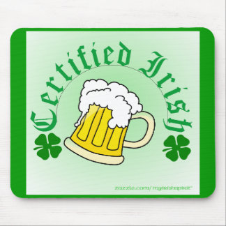 Certified Irish Beer 2gradient Mouse Pad