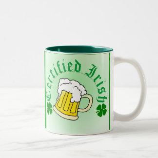 Certified Irish Beer 2gradient Two-Tone Coffee Mug