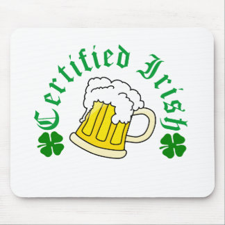 Certified Irish Beer Mouse Pad