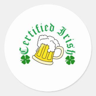 Certified Irish Beer Round Sticker