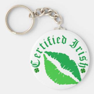 Certified Irish Kiss Basic Round Button Keychain