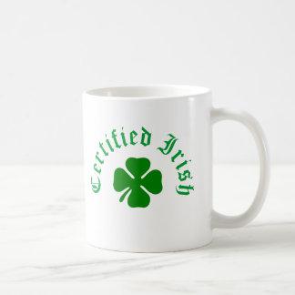 Certified Irish Classic White Coffee Mug