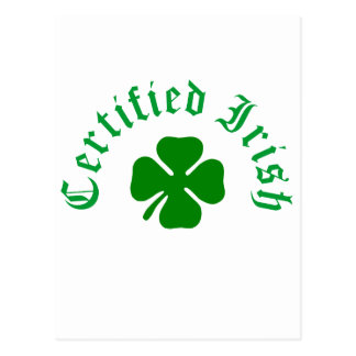 Certified Irish Postcard