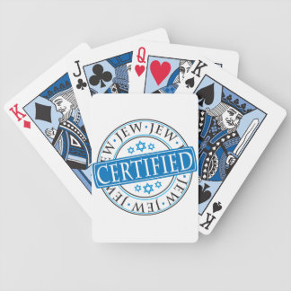 Certified Jew Bicycle Playing Cards