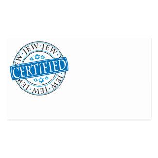 Certified Jew Business Card