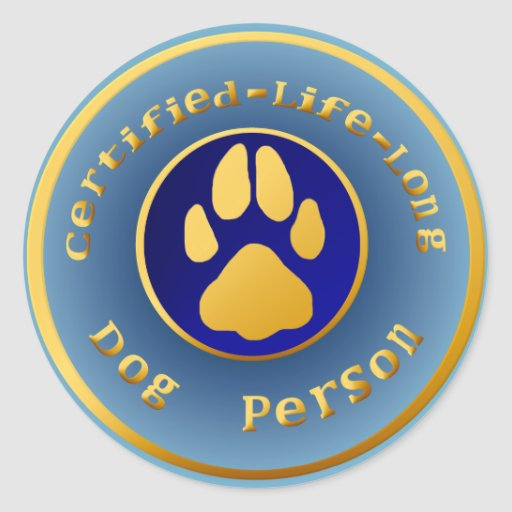 Certified-Life-Long Dog Person Sticker